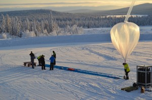 Ballonguppskjutning vid Esrange Space Center i Kiruna