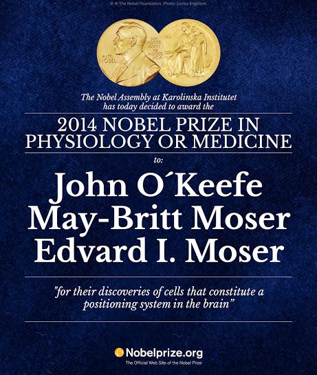 """Nobelpris för upptäckt av hjärnans  """"GPS"""""""