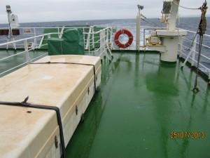 På båt i norra Japan